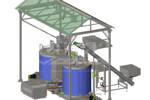 Купить Установка для производства полимер-битумного вяжущего и битумных мастик - Цена снижена!