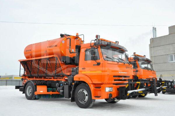 Купить Комбинированная дорожная машина КДМ 43253 КАМАЗ - Цена снижена!